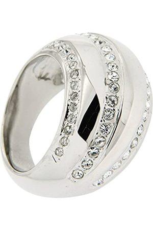 Jean Pierre Damen-Ring Messing rhodiniert Glas weiß Rundschliff Gr. 56 (17.8) - HEJR971-1 18
