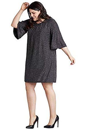 Mela Damen Glitz Ruched Neck Tunic Kleid