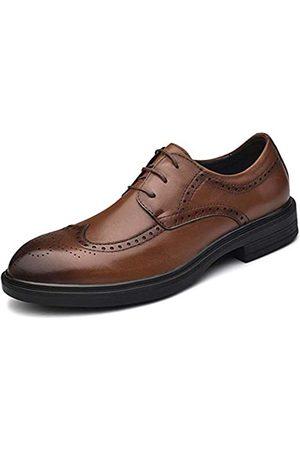 CEMao Cmaocv Herren Hybrid Brogue Oxford Wing Tip Leder Schnürer Kleid Business Derby Schuhe