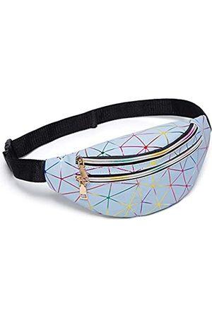MinMinBox Koreanischer Stil Rhombus-Muster glänzend Bling Sporting Bauchtasche Hüfttasche Reißverschluss Crossbody Geldbörse Schultertasche für Damen & Mädchen