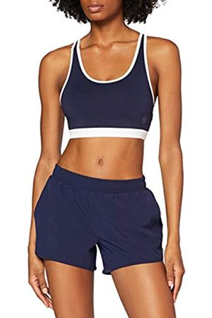 AURIQUE Amazon-Marke: Damen Laufshorts, Blau (Marineblau/Weiß), 42
