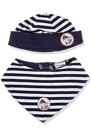 Salt & Pepper Baby-Jungen Ahoy Stripes Set Mütze und Schal, Navy+Navy