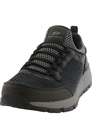 Skechers Mens Relaxed Fit: Volero - Sermon Black/Charcoal Sneaker - 10