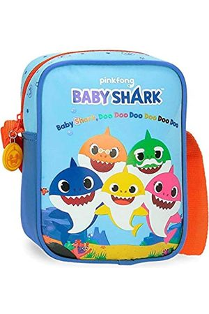 Baby Shark Shark Family Umhängetasche 15x20x6 cms Mikrofaser