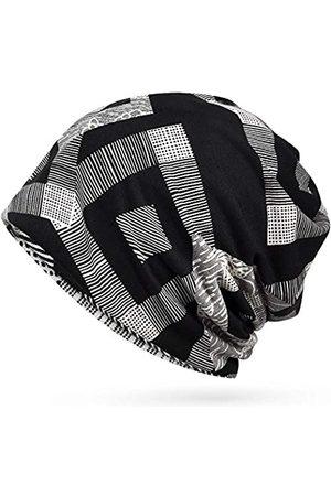 Glamorstar Geblümte Spitze Beanie Chemo-Kappe Stretch Slouchy Turban Kopfbedeckung - - Einheitsgröße