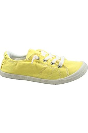Generic FZ-Comfort-01 Damen Süße Komfort Slip On Flache Ferse Runde Zehen Sneaker Schuhe, (senffarben)