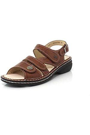 Finn Women's Gomera Fashion Sandals, Brown, Leather, Suede