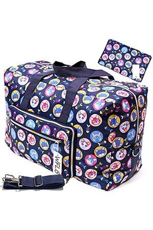 WFLB Große, faltbare Reisetasche für Frauen, Krankenhaustasche, niedliches Blumenmuster, Handtasche, Schultertasche, Wochenender, Übernachtung