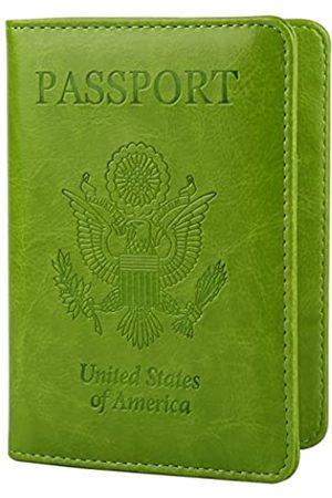 GDTK Leather Passport Holder Cover Case RFID Blocking Travel Wallet (Apple)