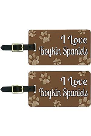 Graphics and More Graphics & More Gepäckanhänger für Jungen, Aufschrift I Love Boykin Spaniels