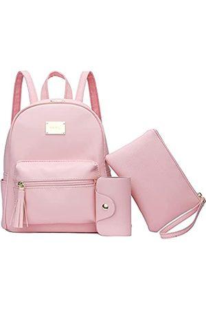 KKXIU Mädchen Mini Bowknot Polka Dot Rucksack Geldbörse Convertible Cute Crossbody Umhängetasche für Frauen, Pink (A-Pink)