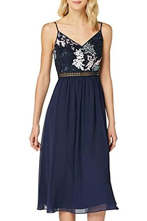 TRUTH & FABLE Amazon-Marke: Damen Midi-Chiffon-Kleid, 40