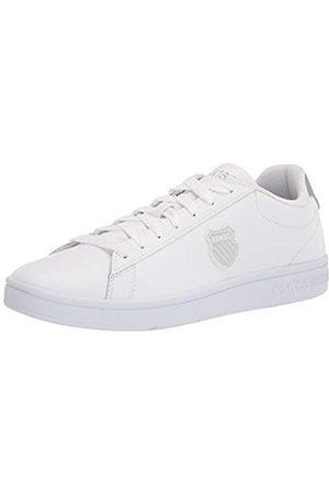K-Swiss Damen Court Shield Sneaker, White/Silver