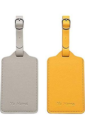 YU HOME Premium Leder-Gepäckanhänger, markante Doppel-Ledertaschenanhänger