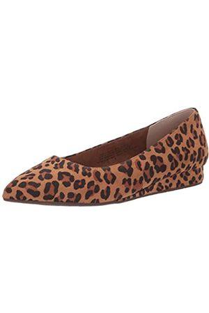 BC Footwear Damen Ballett Flach Rollenmodell, Braun (Leopard)