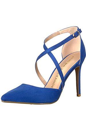 ATHENA Damen Monett Kleid Sandalen, (Blaues Wildleder)