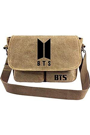 Rainlemon Kpop BTS Bangtan Boys Messenger Bag Vintage Canvas Schultertasche Love Yourself für Army