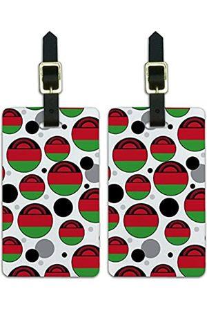 Graphics and More Graphics & More J-n-Malawi Nationalflagge - Luggage.Tags.09628