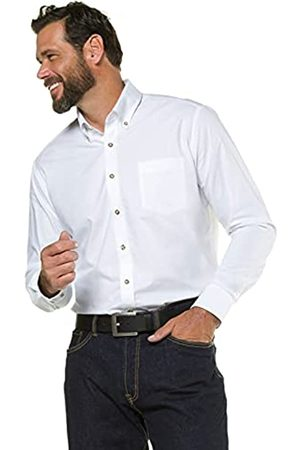 JP 1880 Herren große Größen Menswear L-8XL bis 7XL, Oktoberfest, Trachtenhemd, Knöpfe in Hirschhorn-Optik, Buttondown-Kragen