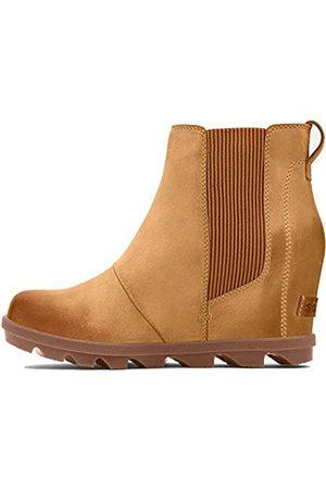 sorel Damen Chelsea-Boots Joan Of Arctic Wedge II, (Camel Brown 2)