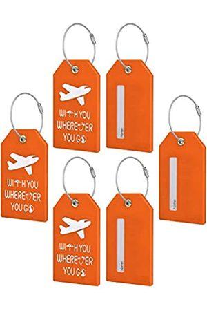 TRAVOKO Gepäckanhänger – 6 Packungen Best Travel Baggage Tags mit Sichtinformationen Karten