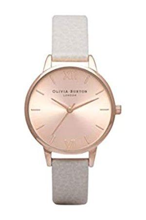 Olivia Burton Damen Analog Quarz Uhr mit Leder Armband OB14MD21