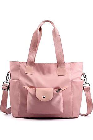 PlasMaller Handgepäck Reisetasche Reisetasche Packbar Gepäck Crossbody Ausrüstung Sport Gym Taschen Leicht Tote Schulter Pack (Pink) - LICHUBD-06-02