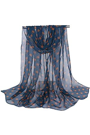 The Crafty Owl Damen Schals - Floral Chiffon Scarves and Shawls for Adults Dots Dark Blue