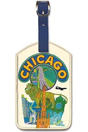 Pacifica Island Art Klein Gepäckanhänger aus Kunstleder – Chicago Illinois von Klein