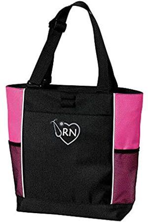 The Crafty Engineer RN Krankenschwester-Tragetasche mit Reißverschluss und Netz-Seitentaschen