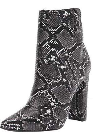 Rampage Women's Fashion Heeled Boot, Black/White