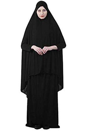 Queena Muslimische Damen Zweiteiliges Gebetskleid Hijab Schal volle Länge Islamische Abaya Set für Hajj Umrah - - Medium