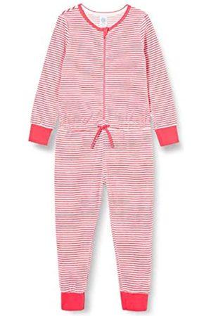 Sanetta Mädchen Jumpsuits - Mädchen Jumpsuit Long Stripe Camellia Rose Lässig bequemer Overall Schlafen und Relaxen an kalten Tagen für Coole