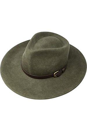 Borges & Scott B&S Premium Lewis - Fedora Hut mit breiter Krempe - 100% Wollfilz - wasserfest - Lederband - 54cm