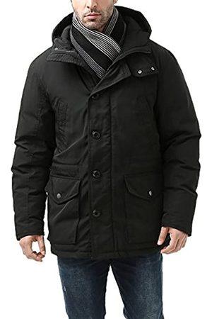 BGSD Men's Tommy Hooded Waterproof Down Parka Coat Black X-Large