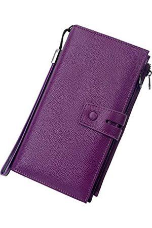 Bveyzi RFID-blockierende Reisebrieftasche, Leder, Reisepasshalter
