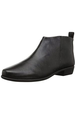 Aerosoles Damen Step It Up Boot - Mid Ankle Boot mit Memory Foam Fußbett, (schwarzes Leder)