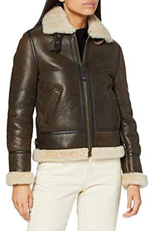 Schott NYC Damen Lederjacke Jacke LCW1257, (dark brown 80)
