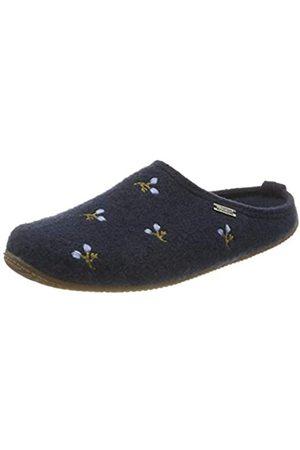 Living Kitzbühel Damen Pantoffel Blumenstickerei mit Fußbett Hausschuh