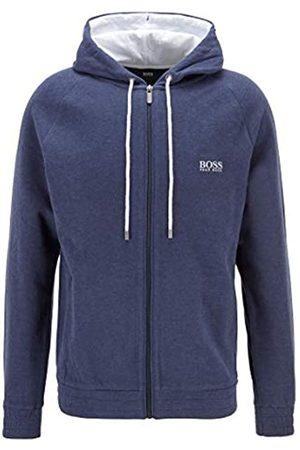 HUGO BOSS Herren Cashmere Jacket Meliertes Kapuzen-Sweatshirt aus zweiseitigem Baumwoll-Mix
