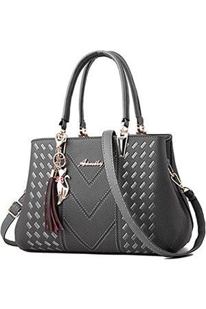 ALARION Damen Laptop- & Aktentaschen - Damen-Portemonnaies und Handtaschen, Schultertasche für Damen, Designer-Schultasche, Messenger, Tragetasche, (1-greys)