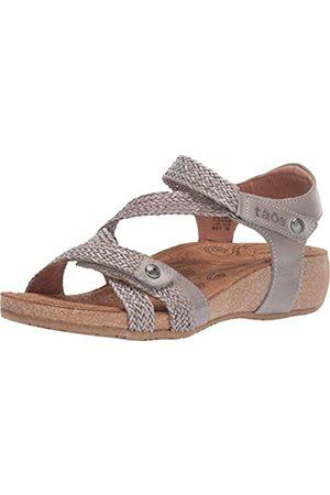 Taos Footwear Damen Trulie Leder Sandalen, Grau (hellgrau)