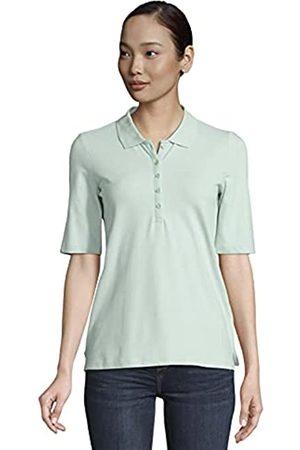 TOM TAILOR Damen Poloshirts - Damen 1025252 Basic Polohemd, 26201-Mint Offwhite Stripe