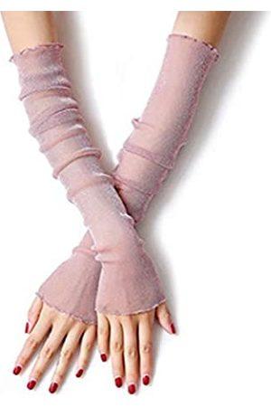 MUYDZ 2 Paar Damen UV Schutz Lange Spitze Handschuhe Kühlen Oder Wärmer Arm Ärmel 2 Zweck Sonnenschutz-Manschetten - - Einheitsgröße