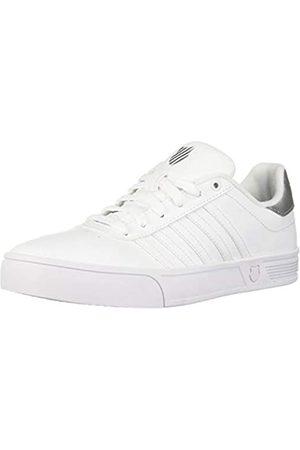 K-Swiss Damen Schuhe - Damen Court LITE STRI Sneaker, (White/Silver 133)