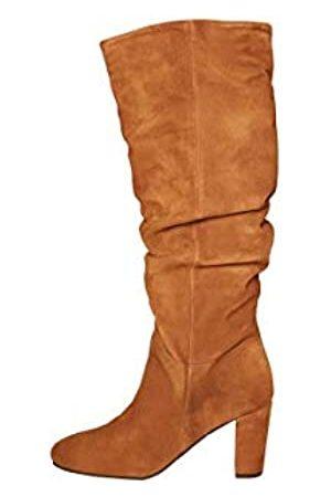 VERO MODA Damen Overknees - Damen VMBIA Leather Boot Kniehohe Stiefel