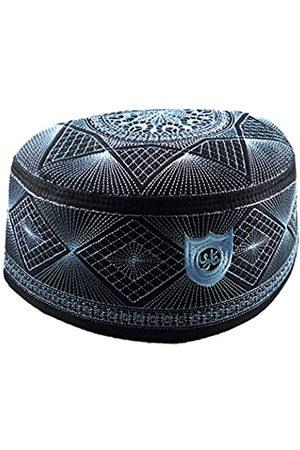 Alwee ALW007 Muslimische Kufi-Hut Islam Gebet Kopfware Herren Totenkopf Mütze Ramadan Eid Geschenk - - 60 cm