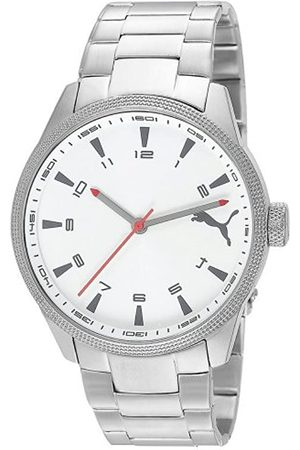 PUMA Time Herren-Armbanduhr XL Indicator Metal Silver Analog Quarz Edelstahl PU102601005