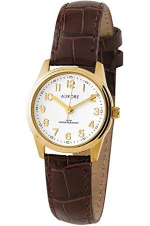 AURORE Damen Uhren - DamenAnalogQuarzUhrmitLederArmbandAF00003