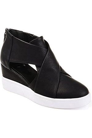 Journee Collection Damen Sneakers - Damen Athleisure Criss Cross D'Orsay Sneaker Wedges